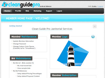 CleanGuidePro Online Janitorial Bidding - My Bid List